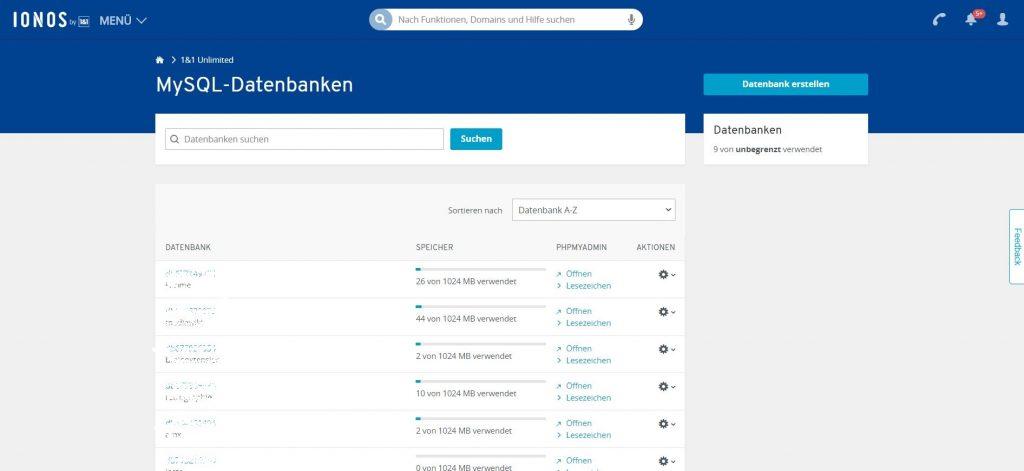 Wordpress installieren: WordPress installieren Datenbank anlegen 1