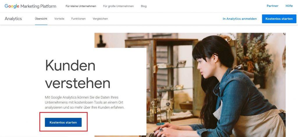 Wordpress installieren: WordPress installieren Google Analytics 1