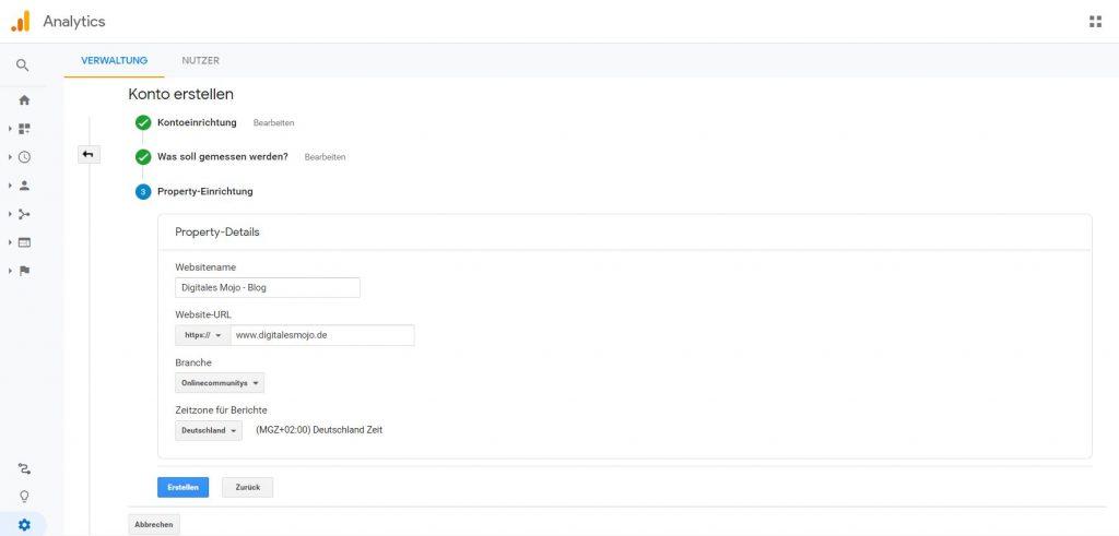 Wordpress installieren: WordPress installieren Google Analytics 4