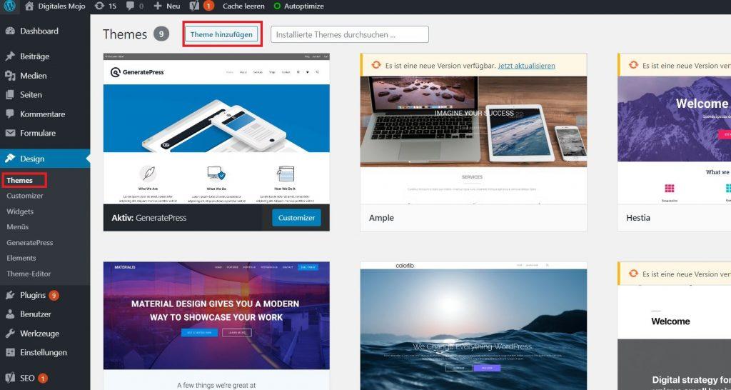 WordPress-Themes: wordpress blog theme installieren 1 1