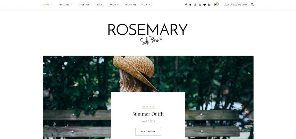 WordPress-Themes: wordpress blog theme installieren rosemary