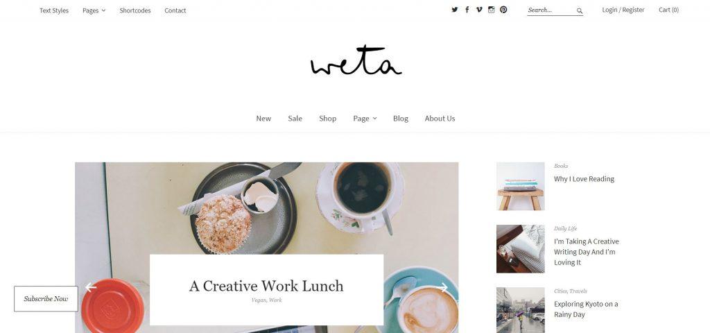 WordPress-Themes: wordpress blog theme installieren weta