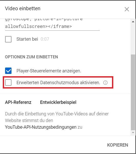 YouTube-Videos DSGVO-konform einbetten: Erweiterter Datenschutzmodus 1