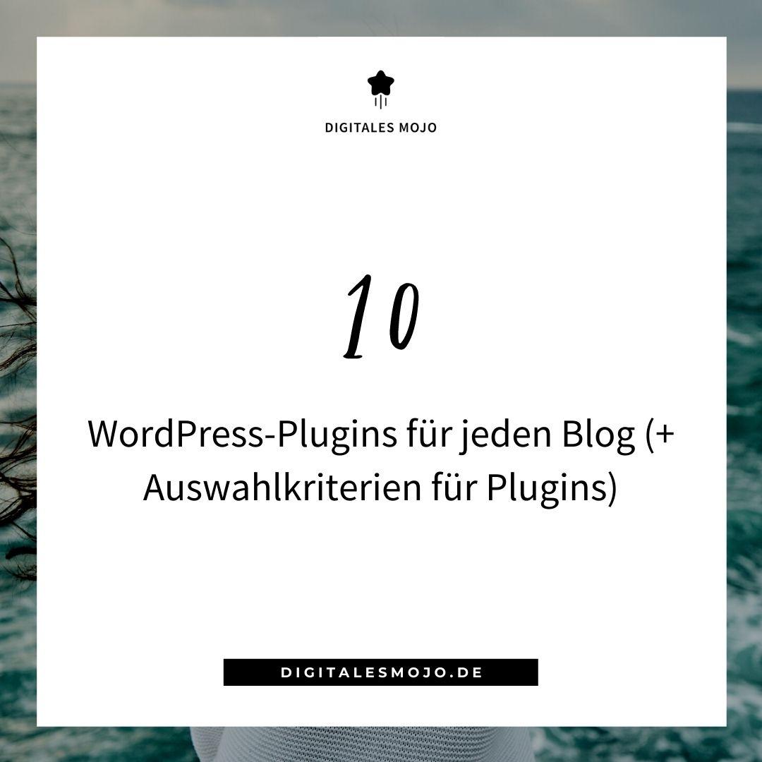 wordpress-plugins: 10 WordPress Plugins fuer jeden Blog