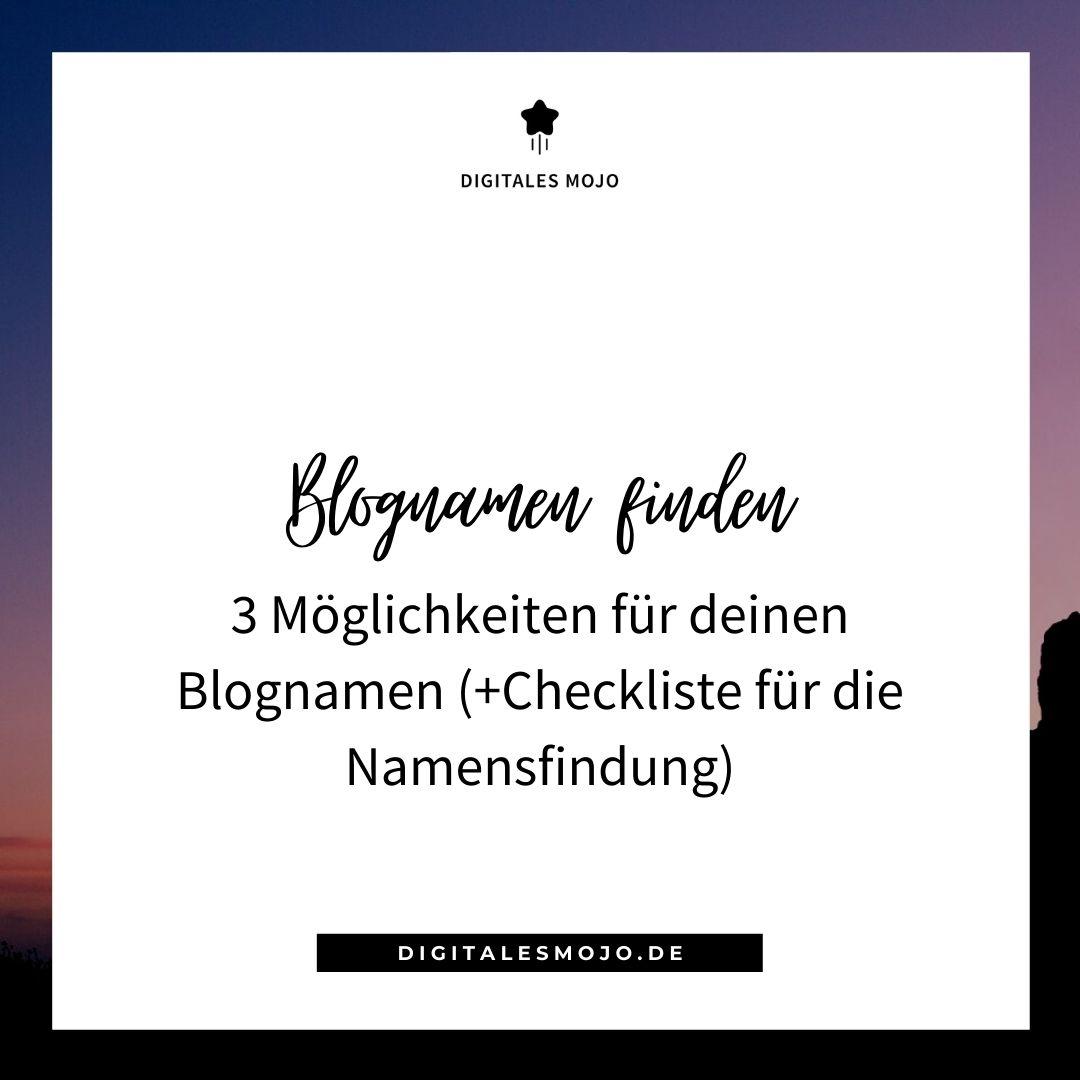 : Blognamen finden